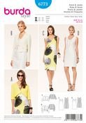 6773 Burda Pattern: Misses' Sleeveless Dress and Coordinating Jacket